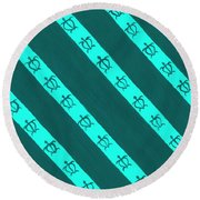 Race To The Sea 3 Round Beach Towel