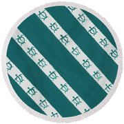 Race To The Sea Round Beach Towel