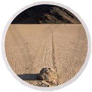 Racetrack Playa Death Valley Round Beach Towel