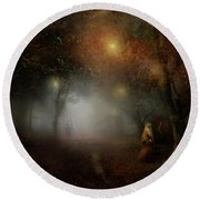Radagast The Brown Round Beach Towel by Joe Gilronan