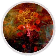 Radiant Red Round Beach Towel by Nancy Kane Chapman