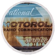 Radio Communications Round Beach Towel