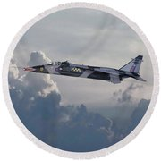Round Beach Towel featuring the photograph Raf Jaguar Gr1 by Pat Speirs