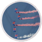 Raf Parachute Display Team Round Beach Towel