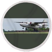 Raf Scampton 2017 - Hunting Percival P 66 Pembroke Taking Off Round Beach Towel