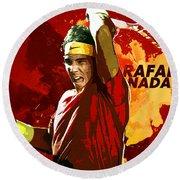 Rafael Nadal Round Beach Towel