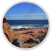 Rafe's Chasm Gloucester Ma North Shore Rocky Round Beach Towel