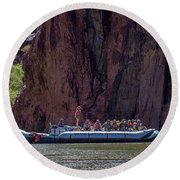 Rafters On The Colorado River, Grand Canyon Round Beach Towel