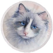 Ragdoll Cat Round Beach Towel