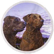 Ragen And Sady Round Beach Towel