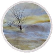 Raging River Round Beach Towel