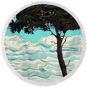 Raging Sky Po-e-tree Round Beach Towel