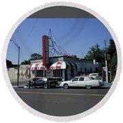 Round Beach Towel featuring the photograph Raifords Disco Memphis A by Mark Czerniec