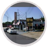 Round Beach Towel featuring the photograph Raifords Disco Memphis B by Mark Czerniec
