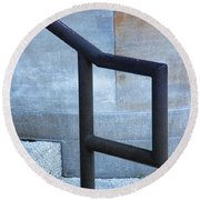 Railing And Step Abstract Round Beach Towel