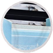 Railings Round Beach Towel
