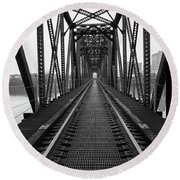 Round Beach Towel featuring the photograph Railroad by Ester Rogers