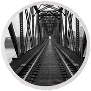 Railroad Round Beach Towel by Ester Rogers