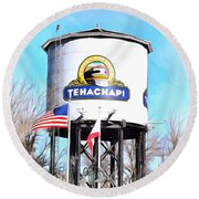 Round Beach Towel featuring the photograph Railroad Park Tehachapi California Detail by Floyd Snyder