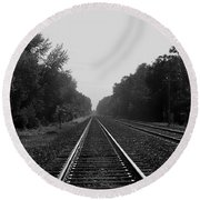 Railroad To Nowhere Round Beach Towel