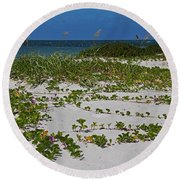 Railroad Vines On Boca IIi Round Beach Towel