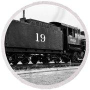 Railway Engine In Frisco Round Beach Towel