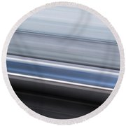 Railway Lines Round Beach Towel by John Williams