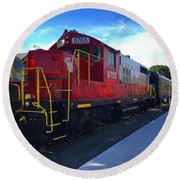 Blue Ridge Railway Round Beach Towel