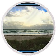 Round Beach Towel featuring the photograph Rain And A Bow by Steven Lebron Langston