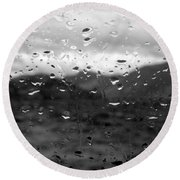 Rain And Wind Round Beach Towel
