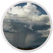 Round Beach Towel featuring the photograph Rain, Beautiful Rain  by Saija Lehtonen