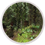 Rain Forest Abstract Round Beach Towel