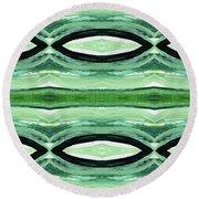 Rain Forest- Art By Linda Woods Round Beach Towel