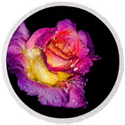 Rain-melted Rose Round Beach Towel