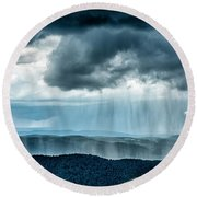Rain Shower Staunton Parkersburg Turnpike Round Beach Towel