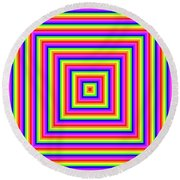 Round Beach Towel featuring the digital art Rainbow #1 by Barbara Tristan