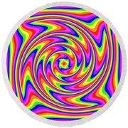 Round Beach Towel featuring the digital art Rainbow #2 by Barbara Tristan