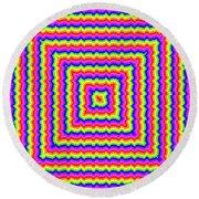 Round Beach Towel featuring the digital art Rainbow #3 by Barbara Tristan