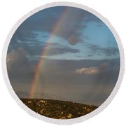 Rainbow Above Lagunas Round Beach Towel