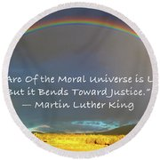 Martin Luther King - Justice Round Beach Towel