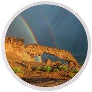 Rainbow Arch Round Beach Towel