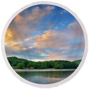 Rainbow At Linville Land Harbor Round Beach Towel