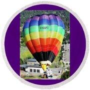 Rainbow Balloon 5 Round Beach Towel