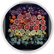 Rainbow Citrus Etc Round Beach Towel