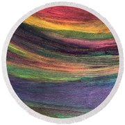 Rainbow Connection Round Beach Towel