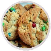 Rainbow Cookies Round Beach Towel by Barbara Griffin