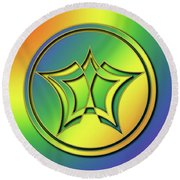 Round Beach Towel featuring the digital art Rainbow Design 1 by Chuck Staley