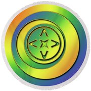 Round Beach Towel featuring the digital art Rainbow Design 2 by Chuck Staley