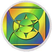 Round Beach Towel featuring the digital art Rainbow Design 3 by Chuck Staley