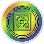 Round Beach Towel featuring the digital art Rainbow Design 4 by Chuck Staley